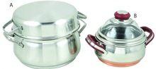 Stainless Steel Cookware Set Fry Pots Pans Saucepan Casserole