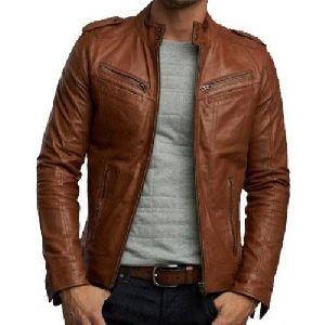 Brown Mens Leather Jacket