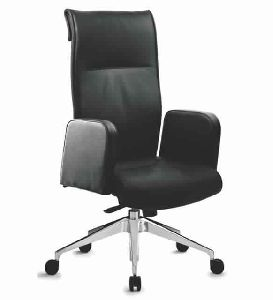 Black Concorde Leather Office Chair