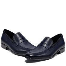 Milled leather penny loafers for men
