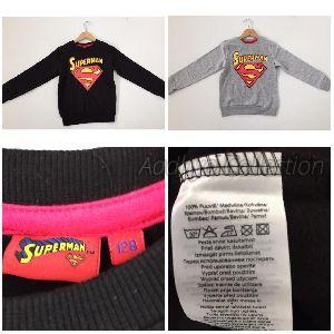 Cotton Blend Superman Solid T-shirts
