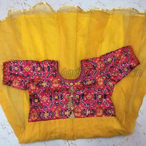 Yellow Kota Doria Gown