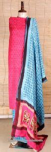 Block Print Cotton Ladies Designer Suit