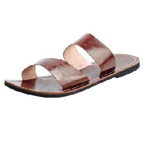 Leather Men's Casual Flip Flop Flat Slipper