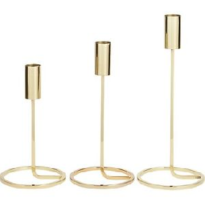 Brass Taper Candle Holder Set