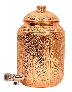 Engraved Copper Water Dispenser