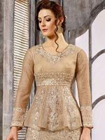 Attractive Beige Embroidered Lehenga