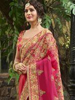Dazzling Shaded Pink Chiffon Saree