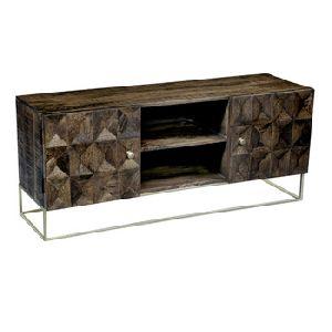 Wooden Iron Door TV Cabinet