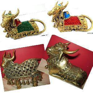 Brass Dhokra Nandi Statue