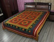 Ravishing Jogi Embroidered Patch Work Bed Cover