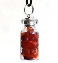Carnelian Bottle Keychain