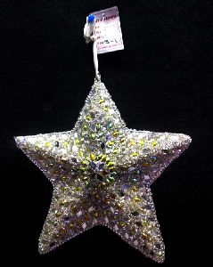 Handmade Green Star Christmas Tree Hanging Ornament