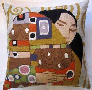 chain stich woolen cushions covers