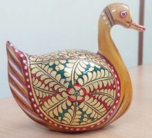 High Quality Popular Indian Painted Wooden Duck