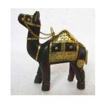Wooden Brass Fitting Camel