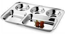 Rectangular Mess Solid Stainless Steel Plate