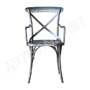 Vintage Industrial Dining Arm Chair