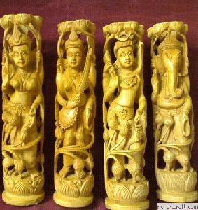 Wooden God Figure