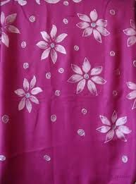 Pink Hand Paint Suit Material