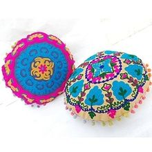 Embroidery Design Mexican Style Seat Cushion Cover
