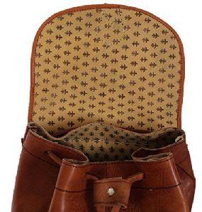 Real Vintage Leather Handmade College Backpack Bag