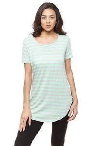 100% Cotton Round Bottom Ladies T-shirt