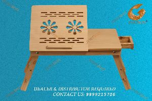 Portable Laptop Table With Drawer And Mouse Tray With Adjustable Legs