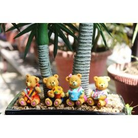 Poly Resin Brown Sitting Teddy Bears
