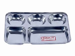 Stainless Steel Compartment Plate (square)