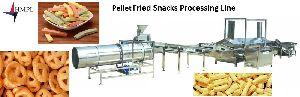 Pellet Fried Snacks Food Processing Line Machine