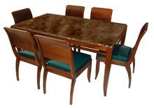 Art deco dining table and chair set