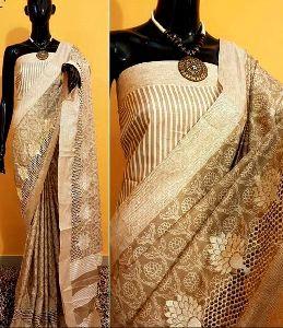 Designer Bhagalpuri Tussar Silk Saree