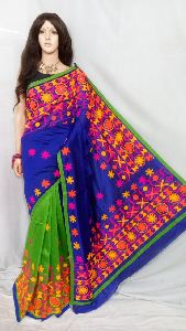 Kathiwari Handwork Cottonsilk Saree