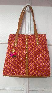 Hand Block Bagru Print Ladies Bags