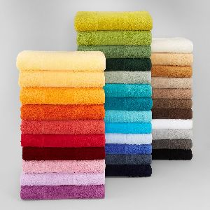 colored terry towels
