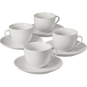 White Office Cups And Saucers
