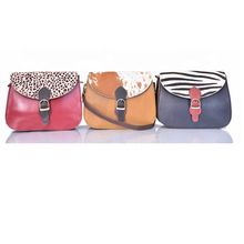 Multi Colors Fur Leather Bag for girl