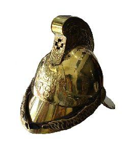 Full Brass Fire Brigade Fighter Fireman Helmet