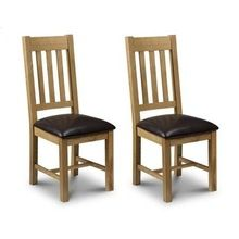 Oak Pair Of Dining Chairs