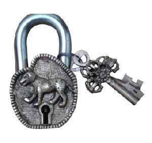 Brass Metal Decorative Antique Door Pad Lock