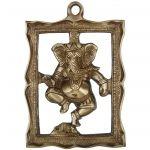 Hand Made Brass Metal Wall Decor Lord Ganesha Figure