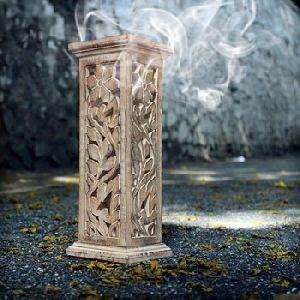 Hand Carved Wooden Incense Stick Burner Holder