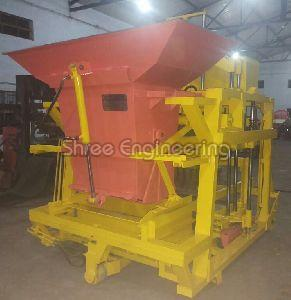 860mm Five Vibrator Auto Feeder Double Stroke Concrete Block Making Machine With Hooper