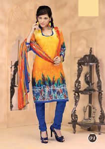 Cotton Printed Unstitched Salwar Kameez