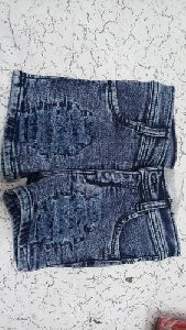 Girls Ripped Denim Short
