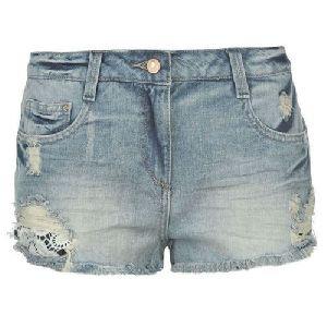 Ladies Blue Denim Short