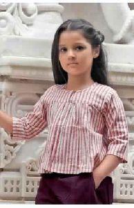 Kids Purple Dhoti Khadi Pair With Lining Top