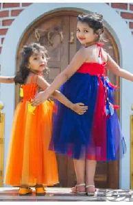 Navy Blue Princess Elsa Kids Baby Frock