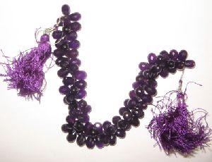 Af. Amethyst Faceted Drop Beads